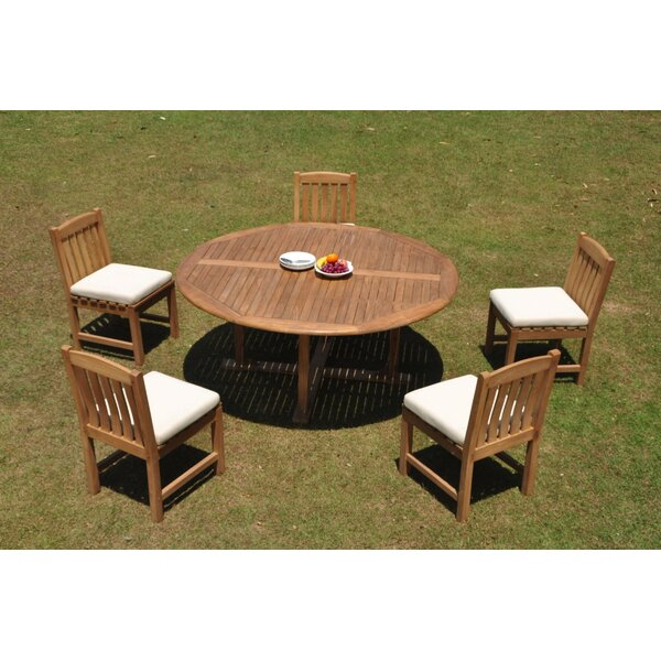 Prague 6 Piece Teak Dining Set by Rosecliff Heights
