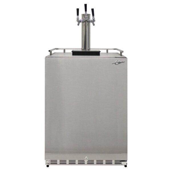 6.04 cu. ft. Triple Tap Full Size Kegerator by Glaros