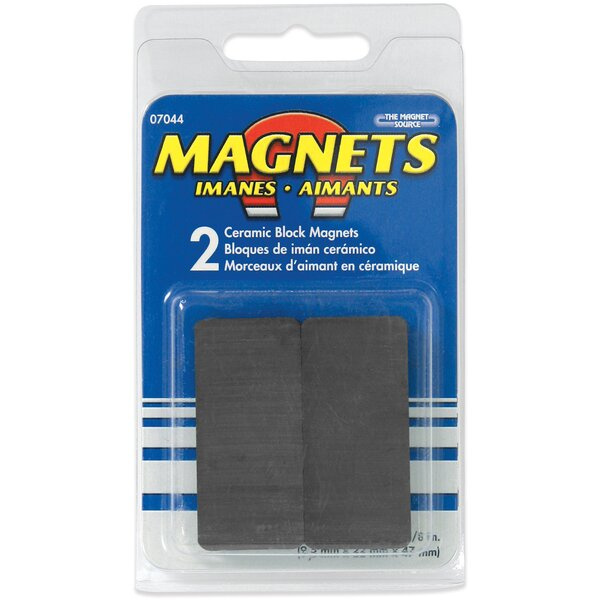 Ceramic Disc Magnets (Pack of 2) by Master Magnetics