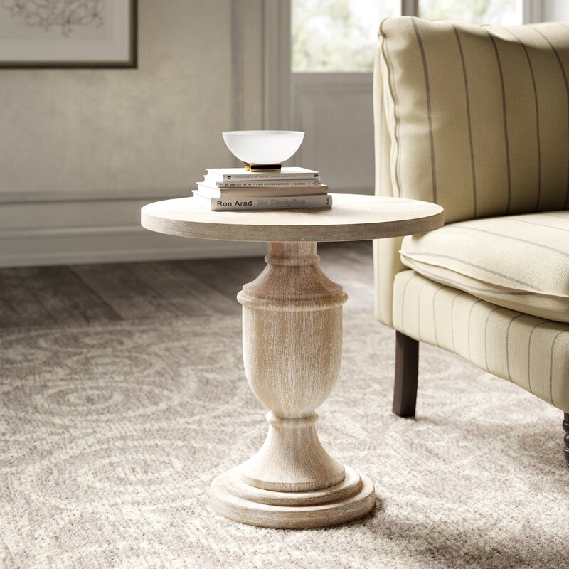 Dudley Pedestal End Table