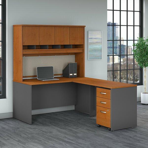 Series C Reversible L Shape Executive Desk with Hutch