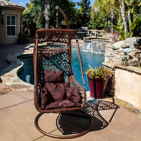 Sherman Tear Drop Swing Chair with Stand by Bayou Breeze Bayou Breeze