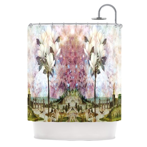 The Magnolia Trees Polyester Shower Curtain by KESS InHouse