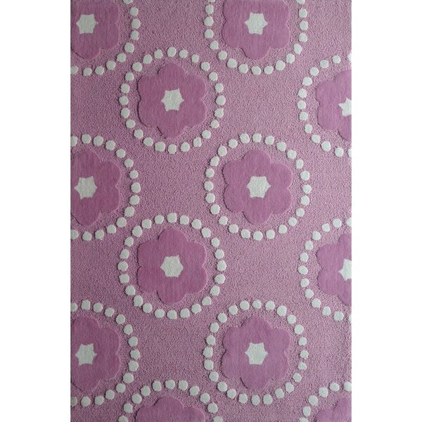 Zoomania Hand-Tufted Pink/Ivory Area Rug by Rug Factory Plus