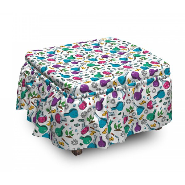 Chemicals Bacteria Cell Plant Ottoman Slipcover (Set Of 2) By East Urban Home