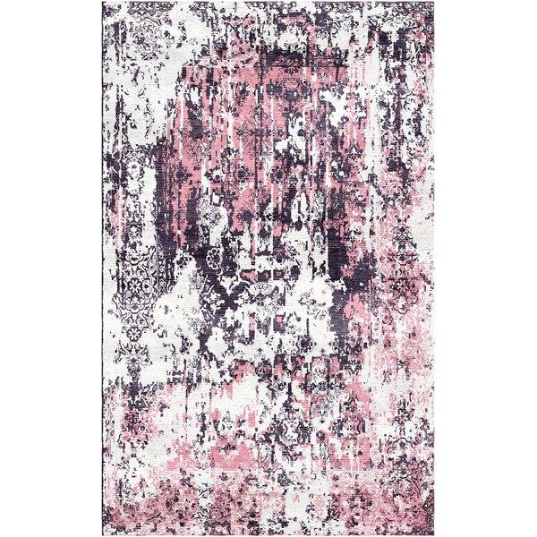 Aliza Handloom Rose/Gray Area Rug by Bungalow Rose
