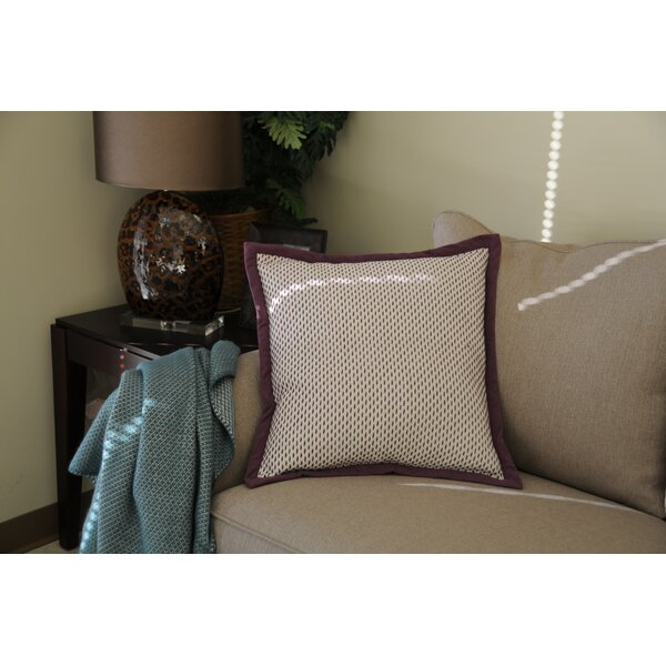 Joule Stitch Cotton Throw Pillow by Winston Porter