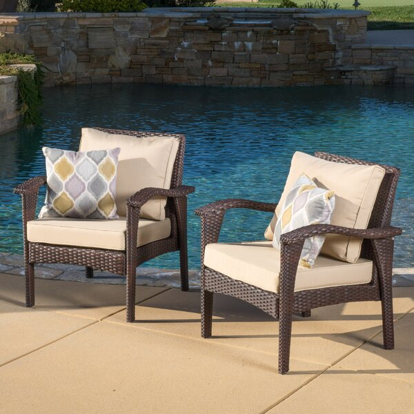 Crane Patio Chair with Cushion (Set of 2) by Alcott Hill