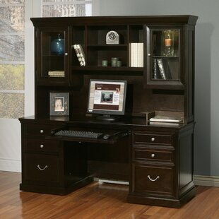 Robbie Solid Wood Executive Desk with Hutch