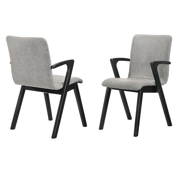 Lissell Upholstered Arm Chair in Gray (Set of 2) by Brayden Studio Brayden Studio