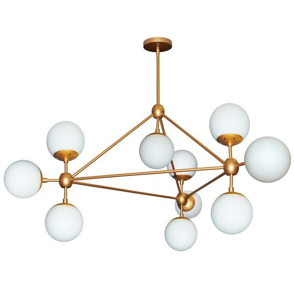 Lyle 10-Light Sputnik Chandelier by Corrigan Studio