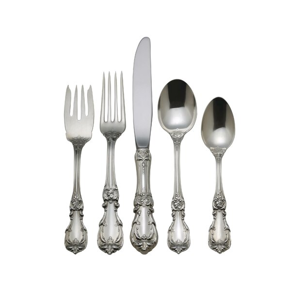 Burgundy 5 Piece Flatware Set by Reed & Barton