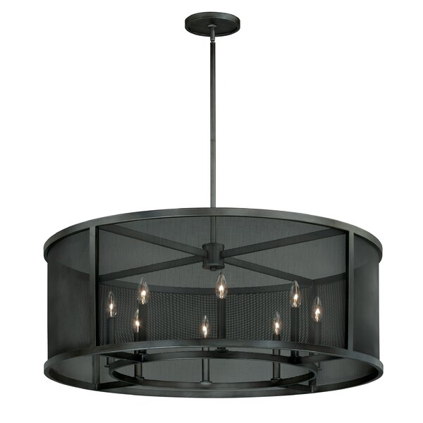 Digirolamo 8 - Light Unique / Statement Drum Chandelier By Williston Forge