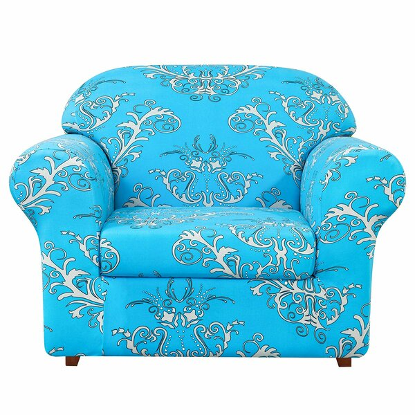 Flower Printed Stretch Box Cushion Armchair Slipcover By House Of Hampton