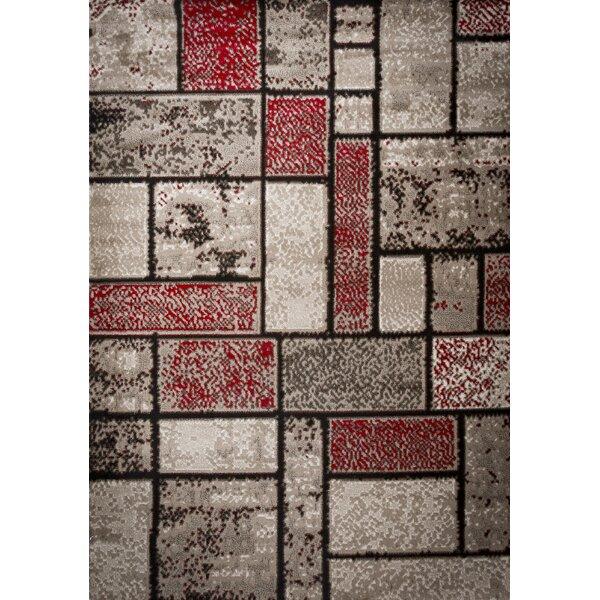 Apodaca Dusty Brick Red/Brown Area Rug by Ebern Designs