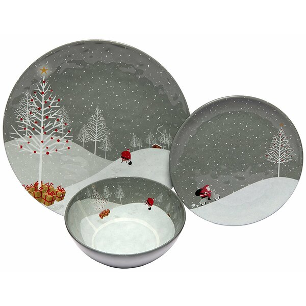 Santa Comes Home Melamine 12 Piece Dinnerware Set, Service for 4 by The Holiday Aisle