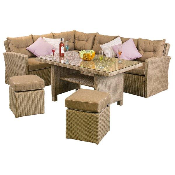 Baysden 4 Piece Rattan Sofa Set with Cushions by Canora Grey