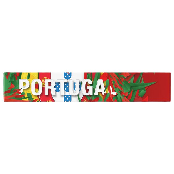 Danny Ivan Portugal World Cup Table Runner by East Urban Home