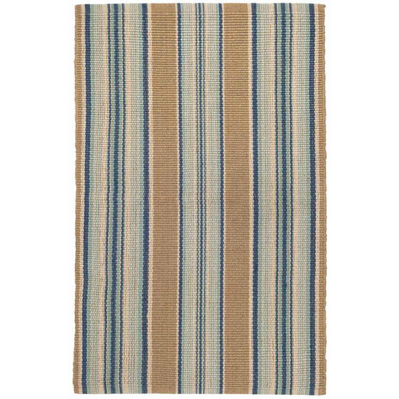 Dash And Albert Rugs Flat Woven Blue Area Rug Reviews Wayfair