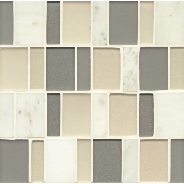 Remy Glass Mosaic Brick Stone/Glass Blends in Bainbridge by Grayson Martin