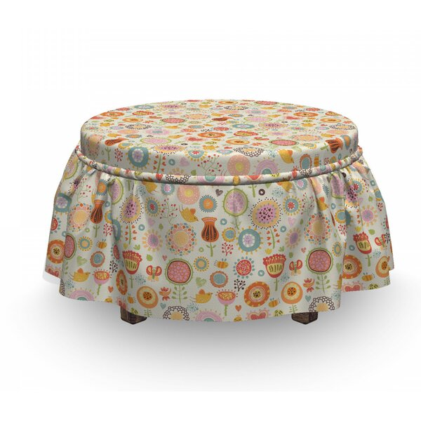 Bees Birds Butterflies Ottoman Slipcover (Set Of 2) By East Urban Home