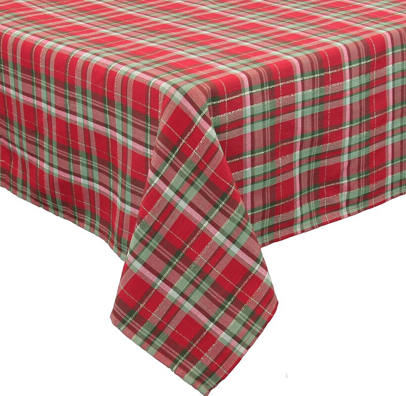 Exceptional Holiday Tartan Christmas Tablecloth