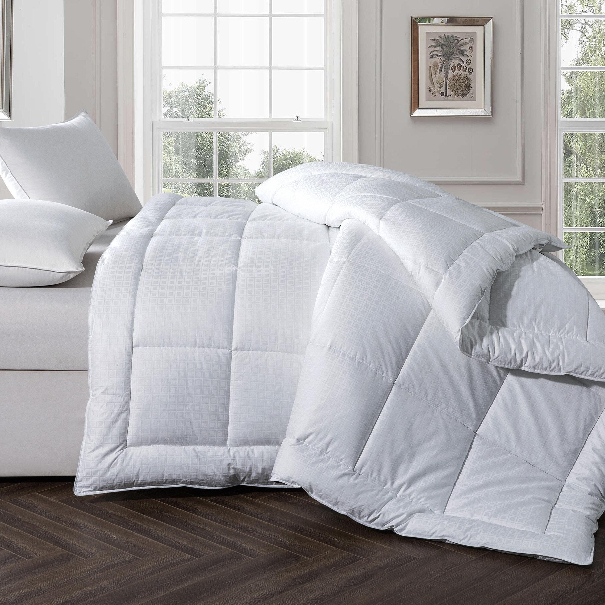 Elegant Comfort All Season Comforter and Year Round Medium Weight Super Soft Dow