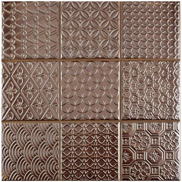 Vigor 3.88 x 3.88 Porcelain Mosaic Tile in Copper by EliteTile