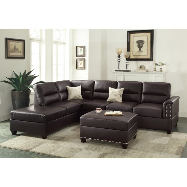 Top Design Eddie Reversible Sectional with Ottoman by A&J Homes Studio by A&J Homes Studio