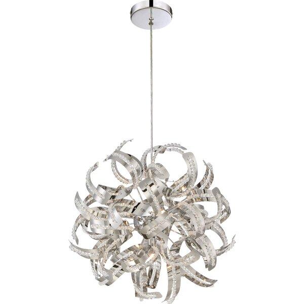 Colletta 5 - Light Unique / Statement Geometric Chandelier By Orren Ellis