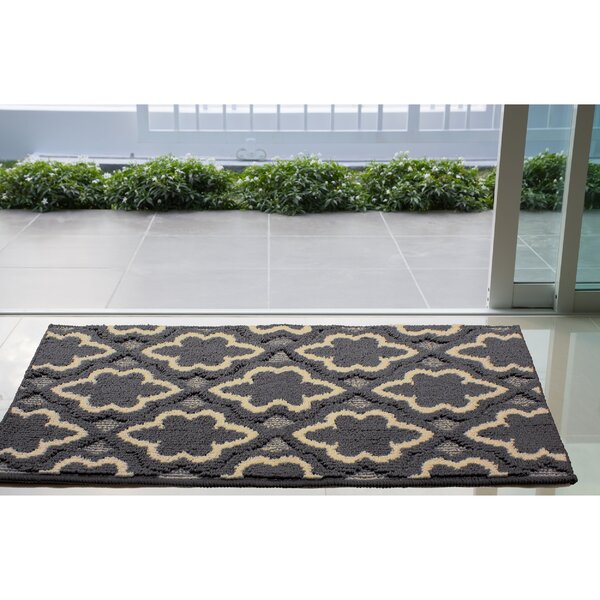 Ardal Dark Gray/Beige Area Rug by House of Hampton