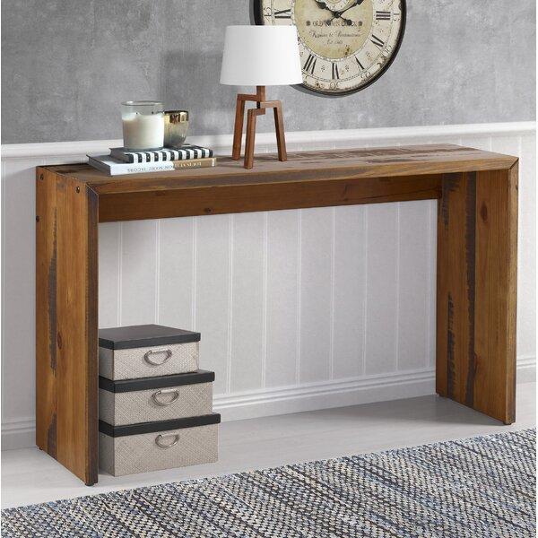 Loon Peak Arocho Solid Reclaimed Wood Console Table