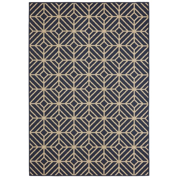 Aker Navy Indoor/Outdoor Area Rug by Mercury Row