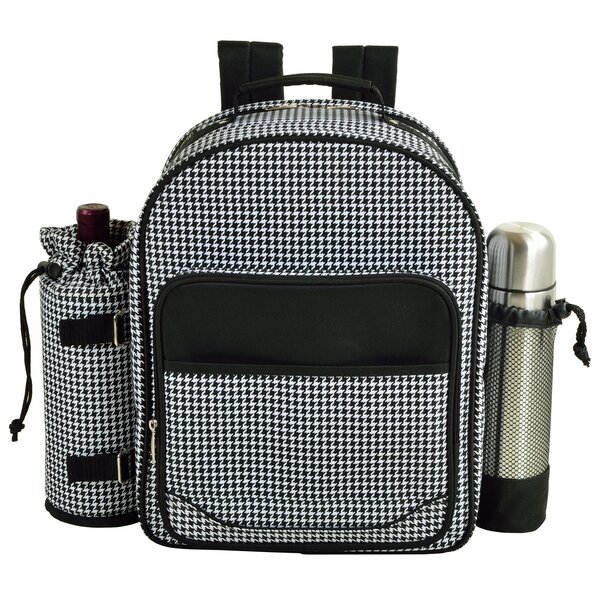 Houndstooth Coffee Backpack Picnic Cooler by Picnic at Ascot