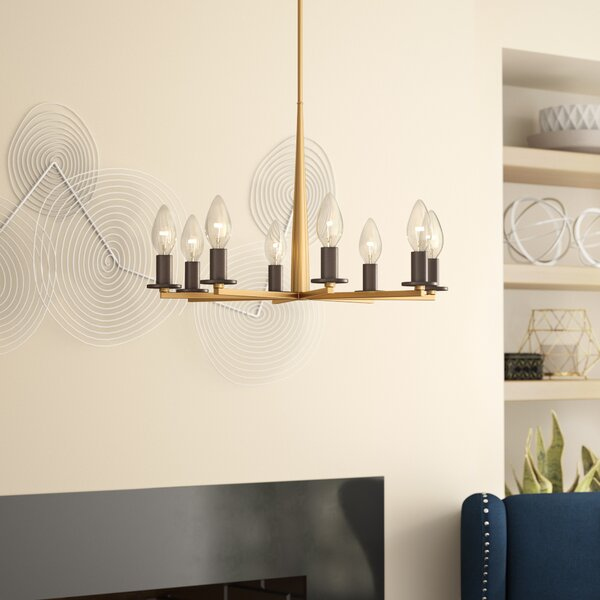 Davila 8 - Light Candle Style Classic / Traditional Chandelier By Ivy Bronx