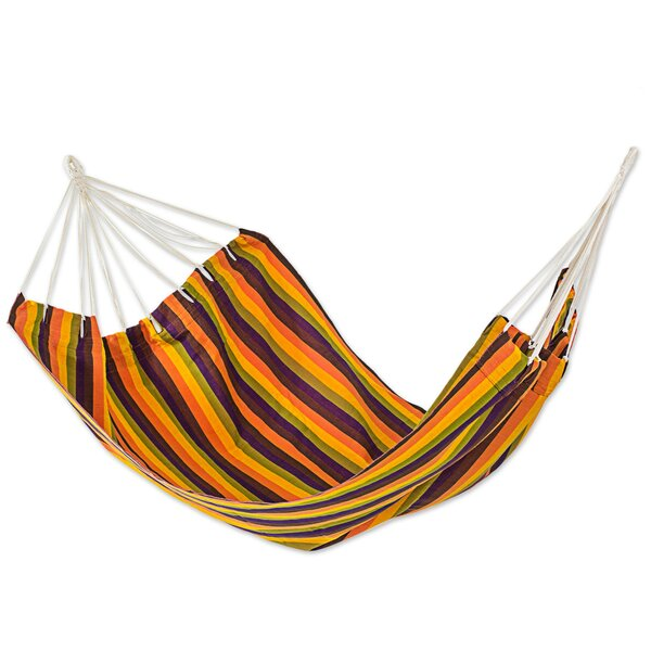 Guatemalan Sunset Double Acrylic Tree Hammock by Novica