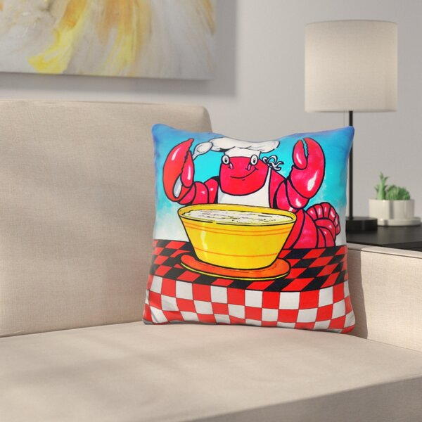 Lobster Throw Pillow by East Urban Home