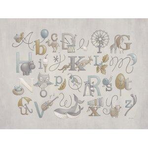 Neutral Alphabet by Sarah Lowe Canvas Art