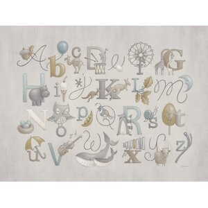 Neutral Alphabet by Sarah Lowe Paper Print by Oopsy Daisy