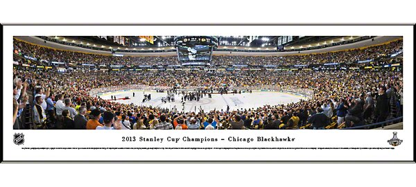 NHL 2013 Stanley Cup Champions - Chicago Blackhawks Standard Framed Photographic Print by Blakeway Worldwide Panoramas, Inc