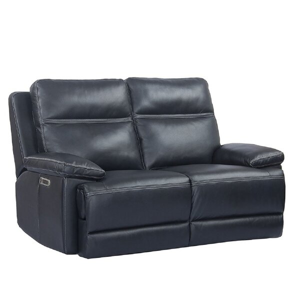 Syn Leather Reclining Loveseat By Latitude Run