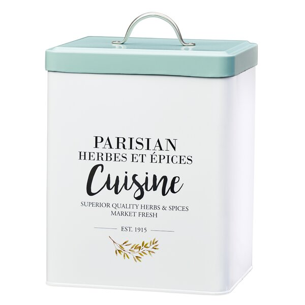 Parisian Cuisine Metal 6.5 qt. Kitchen Canister by Global Amici