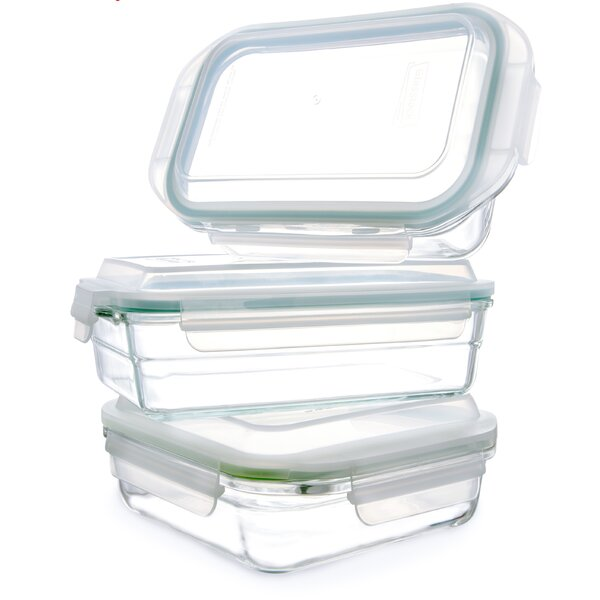 6 Container Food Storage Set by Glasslock
