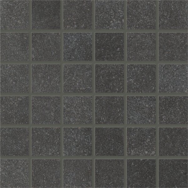 Central Station 2 x 2 Porcelain Mosaic Tile in Charcoal by PIXL