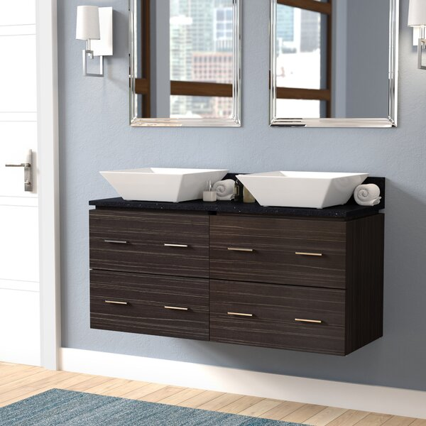 Kaplan Wall Mount 48 Double Bathroom Vanity Set by Royal Purple Bath Kitchen