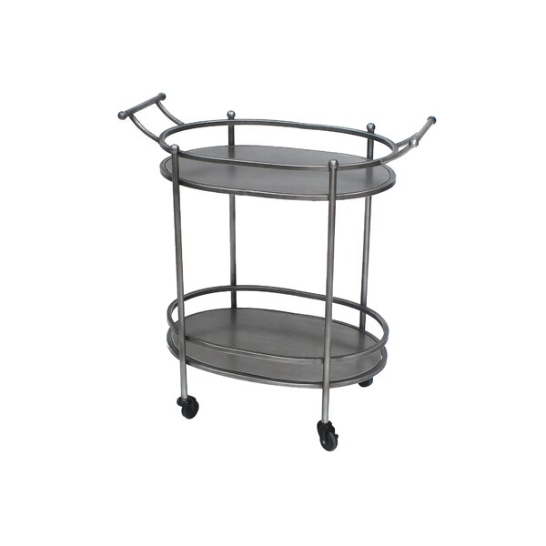 Christopherso Oval Bar Cart by Williston Forge Williston Forge