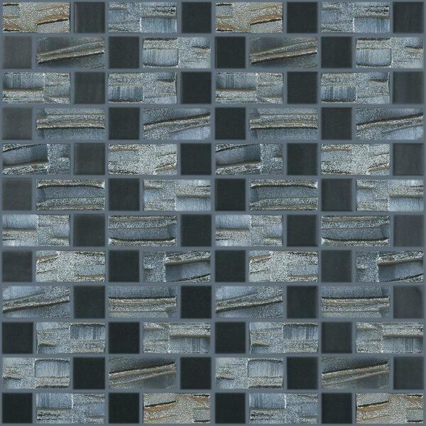 Moon Blends Random Sized Eco Glass Mosaic in Black Night by Kellani