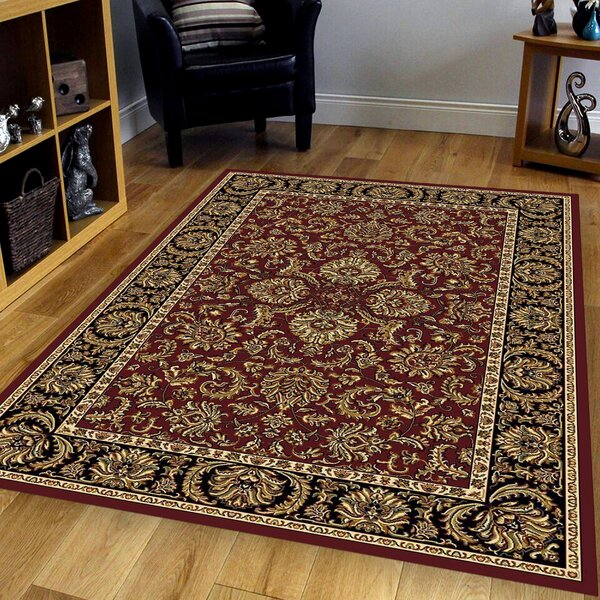 Ione Burgundy Area Rug by The Conestoga Trading Co.