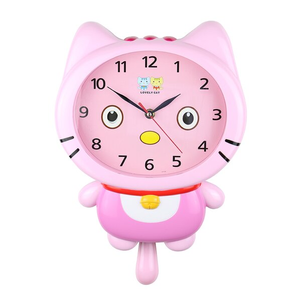 Guida Eyes Cute Kawaii Wall Clock by Zoomie Kids