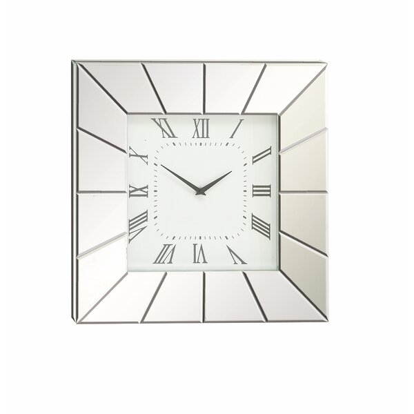 20 Wood and Mirror Wall Clock by Cole & Grey